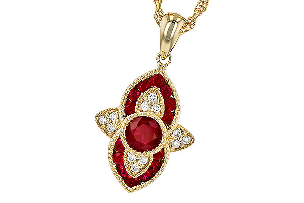 B318-49073: NECK .63 TW RUBY .70 TGW