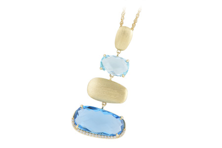 H233-92691: NECK 13.75 BLUE TOPAZ 13.87 TGW