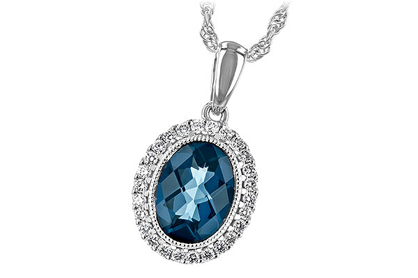 A234-83555: NECK 1.28 LONDON BLUE TOPAZ 1.41 TGW