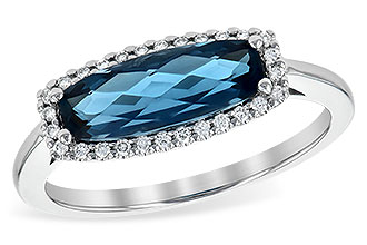 B235-78164: LDS RG 1.79 LONDON BLUE TOPAZ 1.90 TGW