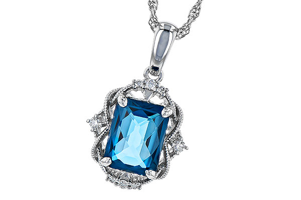 B318-49028: NECK 1.68 LONDON BLUE TOPAZ 1.73 TGW