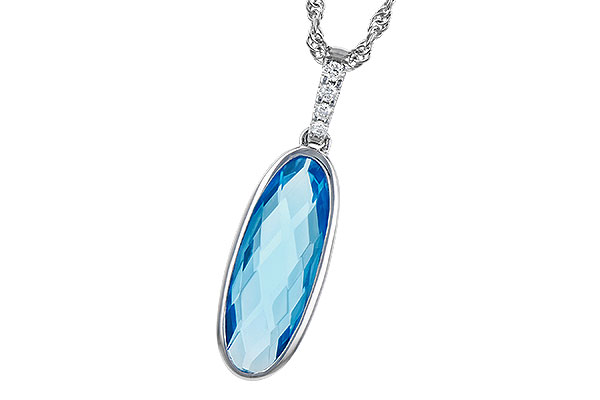 B318-49055: NECK 1.90 BLUE TOPAZ 1.93 TGW