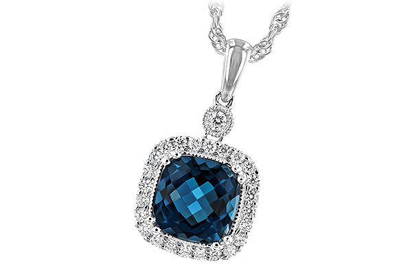 C234-83546: NECK 1.63 LONDON BLUE TOPAZ 1.80 TGW