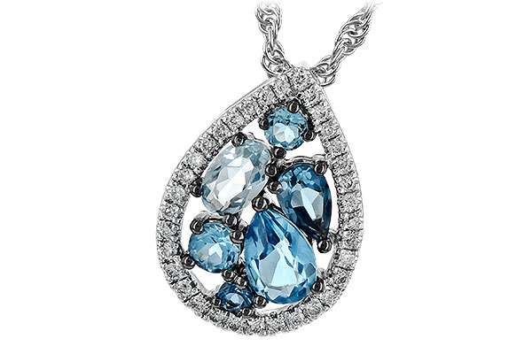 C234-89000: NECK 1.15 BLUE TOPAZ 1.30 TGW