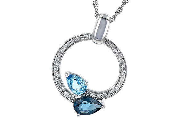 G235-79945: NECK 1.22 BLUE TOPAZ 1.40 TGW