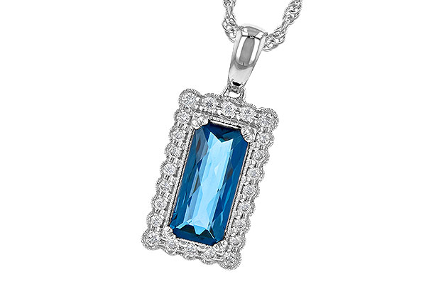 L235-80827: NECK 1.55 LONDON BLUE TOPAZ 1.70 TGW